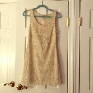 Charlotte Russe Cream Lace Dress